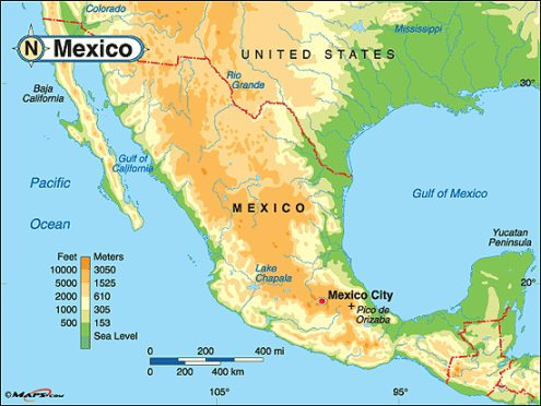 Mexican Plateau Map